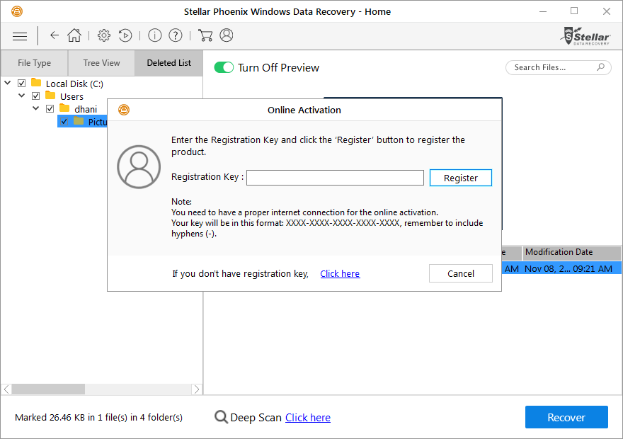 stellar phoenix windows data recovery 7.0 registration key