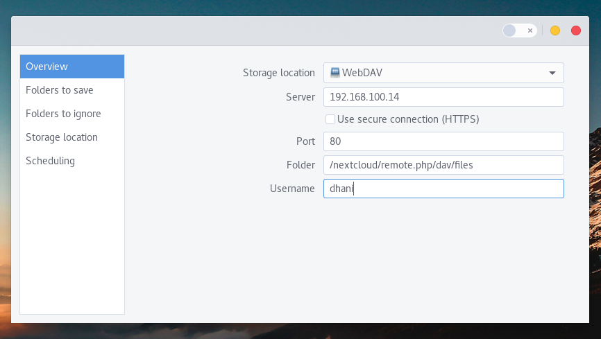 How to Backup Linux to Remote WebDAV using Deja Dup